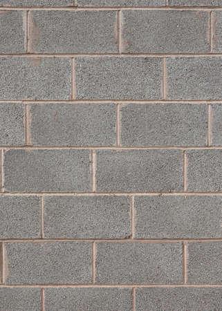 cement wall: Closeup detail of a grey breeze block wall Stock Photo
