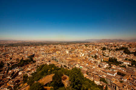 Aerial view of the historic Spanish city of Granada