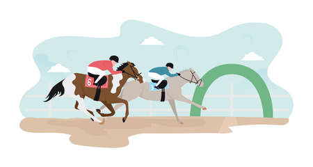 Horse racing. Horse racing competitions. Horse race. Horse racing