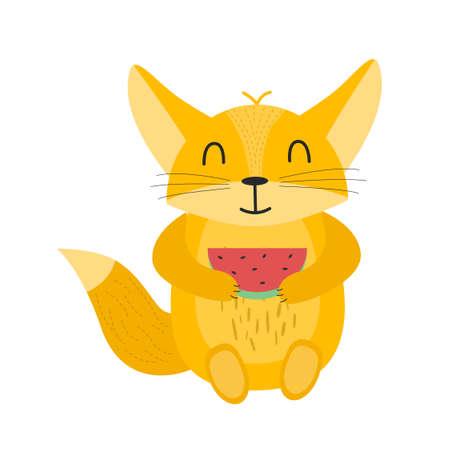 Illustration of an animal Fenech. Fenech character.