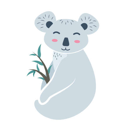 Animal koala. Koala bear character. Vector illustration.