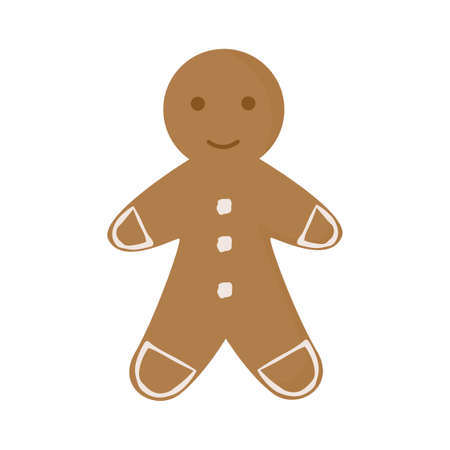 The character. Gingerbread Man. Gingerbread man cookie. Vector illustration