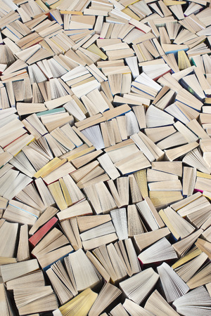 paperback: Pulp fiction,  mass of paperback books filling image Stock Photo