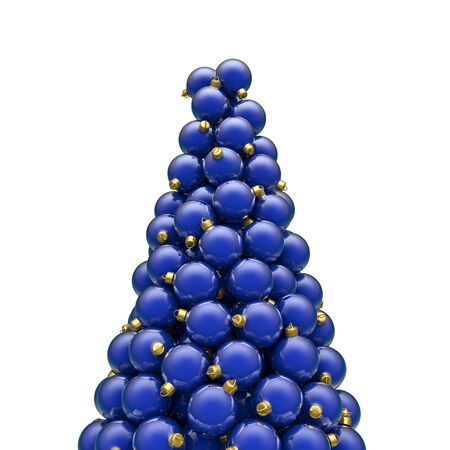 christmas ornaments: Christmas ornaments peak blue, 3D render of piled christmas ornaments