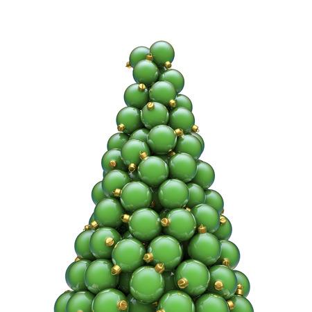 christmas ornaments: Christmas ornaments peak green, 3D render of piled christmas ornaments