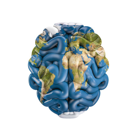 지구 두뇌, 3D 인간의 두뇌의 행성 지구 렌더링