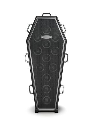 trumna: Trumna Wzmacniacz 3D render kształcie trumny wzmacniacza muzycznego Zdjęcie Seryjne