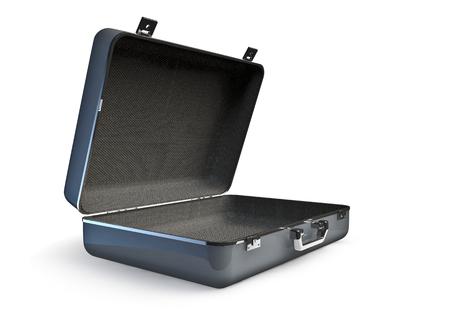 open suitcase: Open suitcase  3D render of empty open suitcase Stock Photo