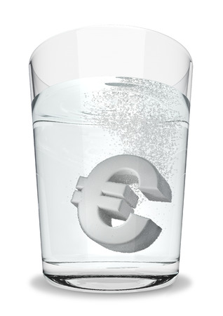 seltzer: Euro seltzer  3D render of euro symbol fizzing in glass of water