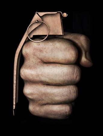 violencia intrafamiliar: Los actos violentos Puño como concepto granada de mano