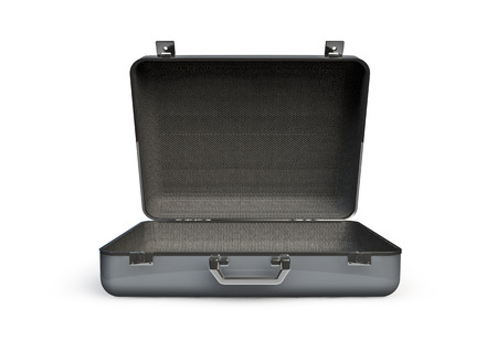Open suitcase  3D render of empty open suitcase Stock Photo