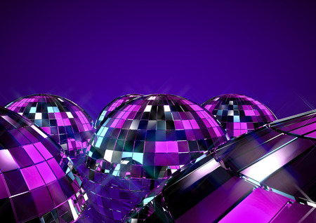 Disco ball  3D disco ball concept Stock Photo