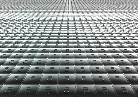 filing system: Endless filing system  3D render of endless filing cabinet Stock Photo