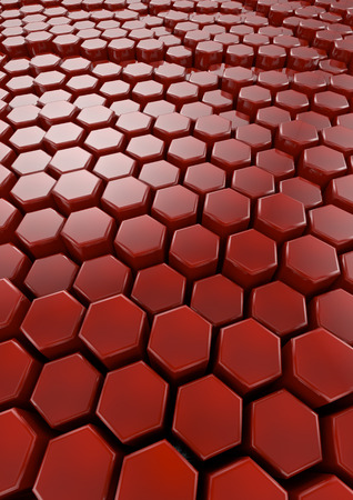 colorize: Hexagons background  3D render of plastic hexagons, easy to colorize