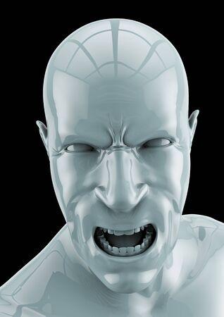 enraged: CG Rage  3D render of enraged male figure
