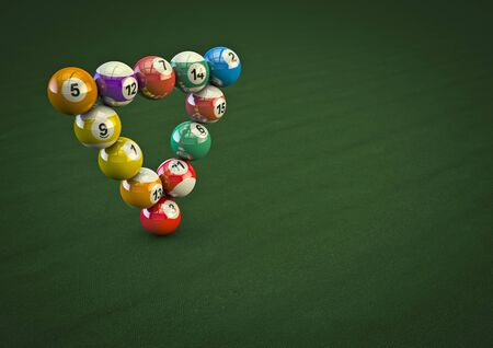 pool balls: Impossible pool ball trick  3D render of pool balls in impossible formation