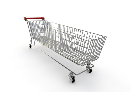 extra large: Extra large shopping trolley  3D render of super sized shopping trolley Stock Photo
