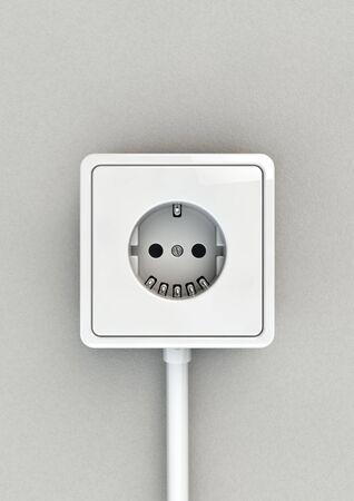 carita feliz: Cara Toma el�ctrica 3D de la toma de corriente que forman cara feliz