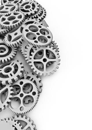 clock gears: Lots of cogs  3D render of cogs