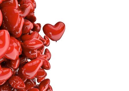 dearest: Heart balloons  3D render of heart shaped balloons