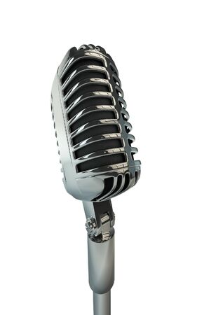 remix: Retro microphone  3D render of old fashioned classic microphone background
