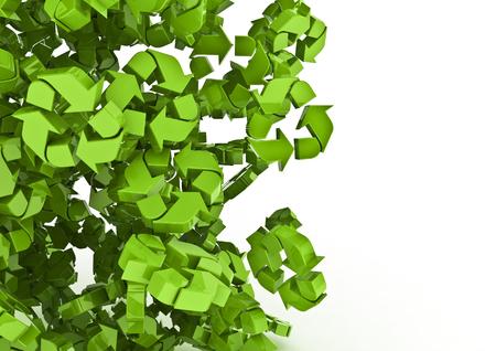 재활용 기호의 더미 재활용 심볼의 3D 렌더링 스톡 콘텐츠