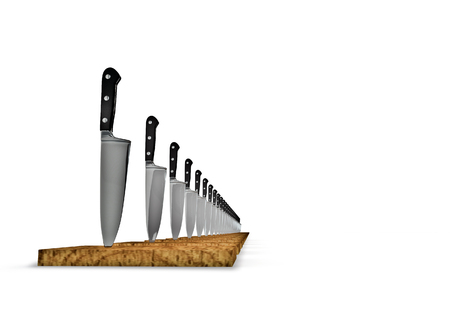 3d chef: Chef knives  3D render of chef knives