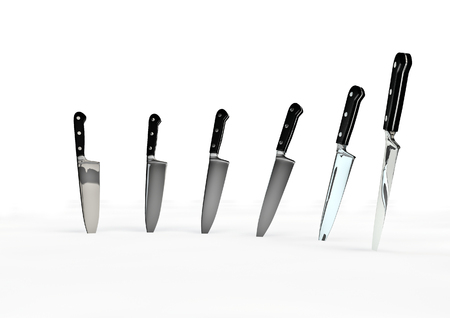 chef 3d: Chef knives  3D render of chef knives