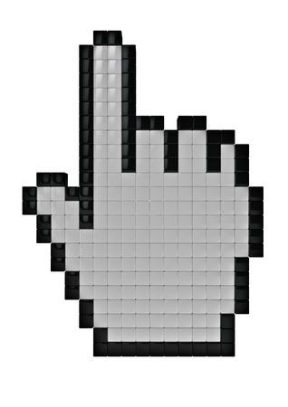 3d cursor: Hand cursor  3D render of hand cursor