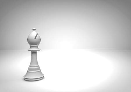 chess piece: Chess bishop  3D render of chess piece