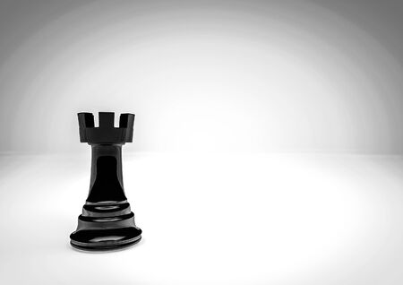 chess piece: Chess rook  3D render of chess piece Stock Photo