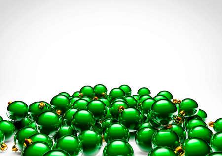christmas ornaments: Christmas ornaments  3D render of shiny christmas ornaments Stock Photo