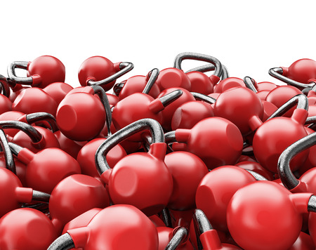 colorize: Kettlebell pile  3D render of heavy kettlebells, easy to colorize