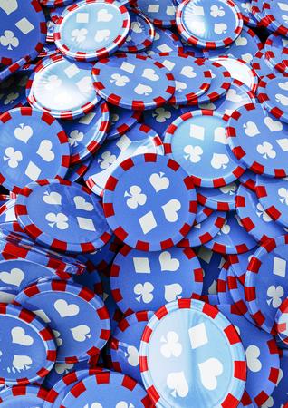 poker chip: Poker chip background  3D render of poker chips