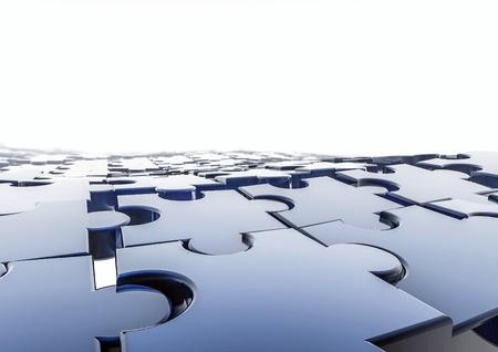 퍼즐 배경 퍼즐 조각의 3D 렌더링 스톡 콘텐츠