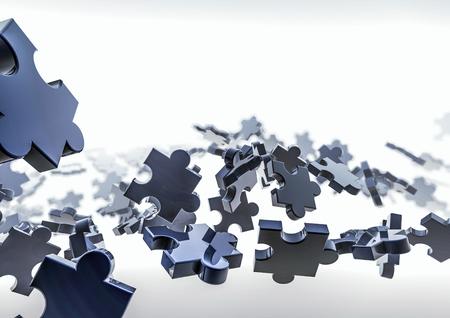 puzzle background: Puzzle background  3D render of puzzle pieces Stock Photo