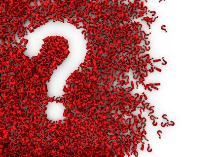 signo de pregunta: Alfabeto Vac�o S�mbolo 3D agujero en forma formada por miles de otras m�s peque�as, f�ciles de colorear