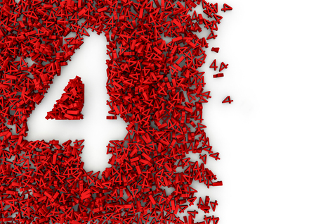 numerics: Void alphabet 3D  Number shaped hole formed by thousands of smaller ones, easy to colorize Stock Photo