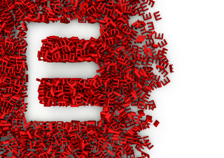colorize: Void alphabet 3D  Letter shaped hole formed by thousands of smaller ones, easy to colorize