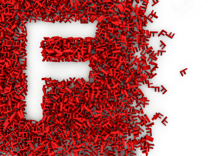 smaller: Void alphabet 3D  Letter shaped hole formed by thousands of smaller ones, easy to colorize