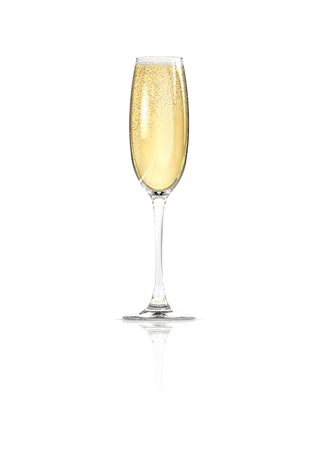 Champagne glass  3D render of elegantly lit glass of champagne