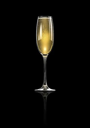 elegantly: Champagne glass  3D render of elegantly lit glass of champagne