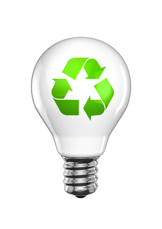 Recycle Light Bulb 3D Render Of Light Bulb With Recycling Symbol Stock  Photo   48999300