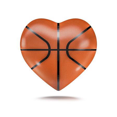 농구 심장 3D 렌더링의 심장 모양의 농구