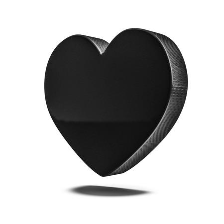 fandom: Hockey puck heart  3D render of heart shaped ice hockey puck