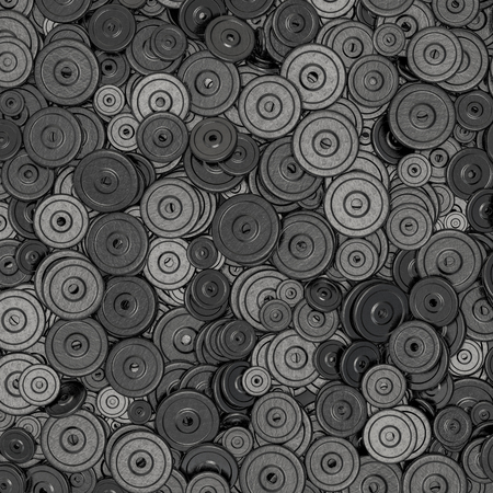 heavy weight: Weight plates background  3D render of hundreds of heavy weight plates
