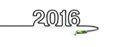 opec: Petrol hose 2016  3D render of petrol hose forming year 2016