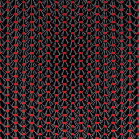 remix: Vinyl record pattern  3D render of vinyl records arranged in scale pattern
