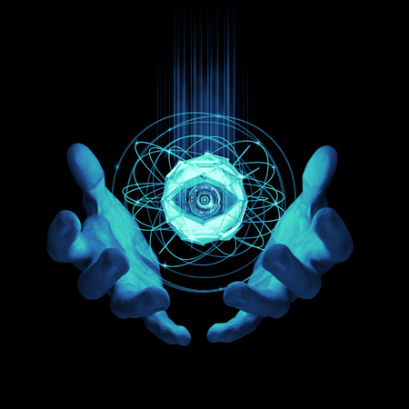 가상 현실 검사 / 인공 지능 개념의 3D 렌더링 스톡 콘텐츠 - 56637099