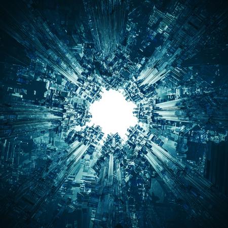 nucleus: The technocore nucleus  3D render of futuristic science fiction structure